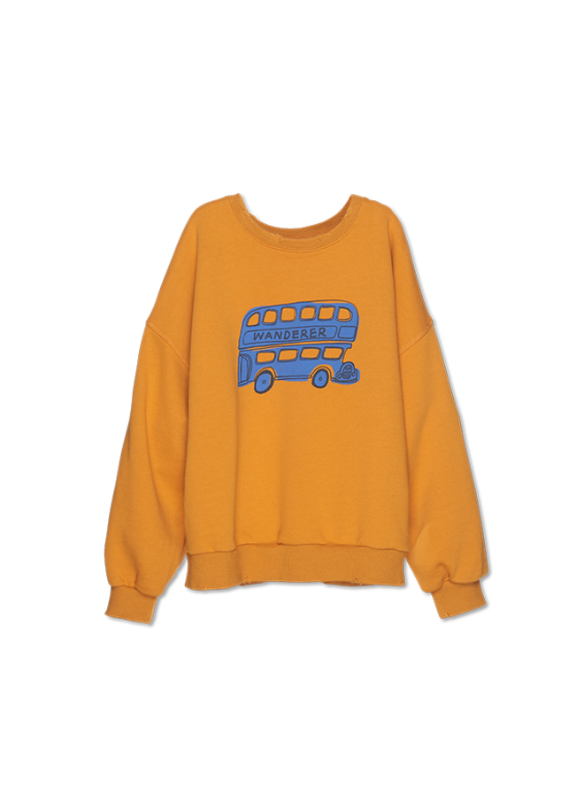 Wander & Wonder - Bus Sweatshirt, corn
