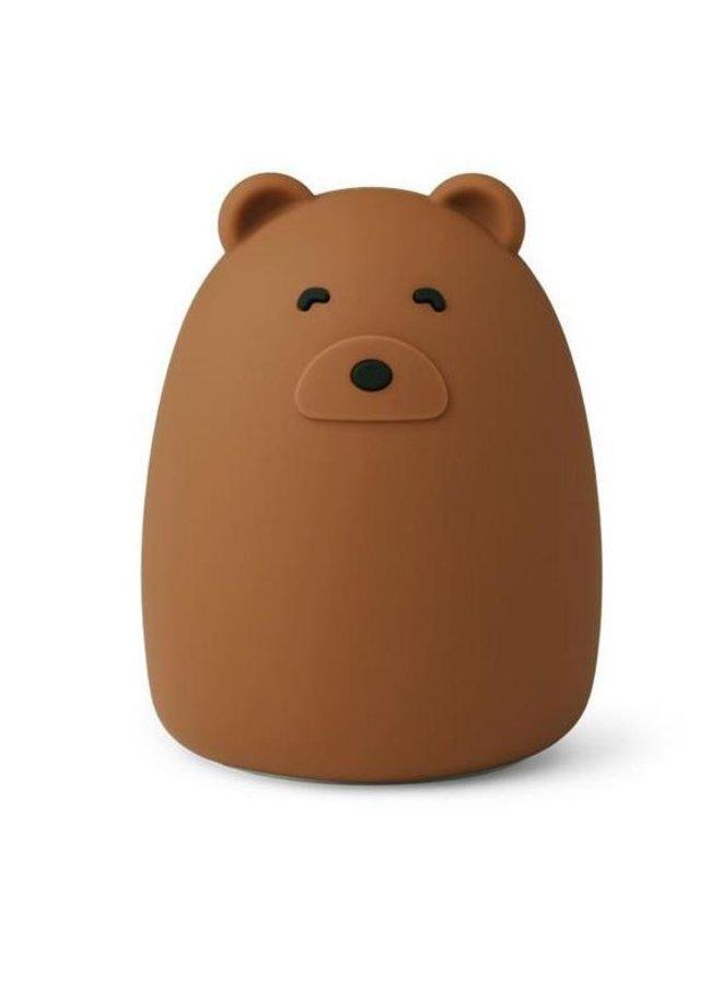 Liewood nachtlampje winston mr. bear golden caramel