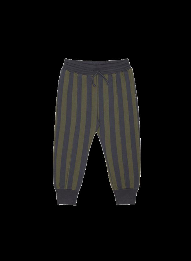 House of Jamie - Sweatpants moss & blue stripes