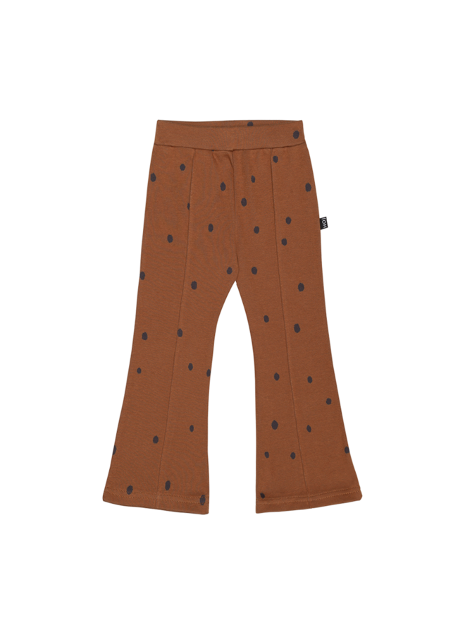 House of Jamie - Flared Pants ginger bread dots