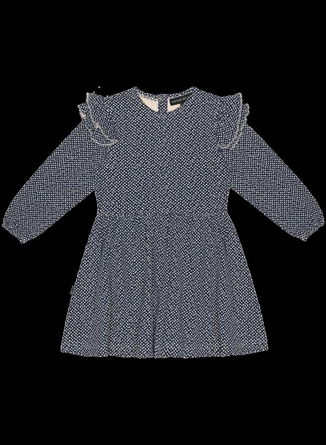 House of Jamie - Girls Dress vintage blue cardhouse