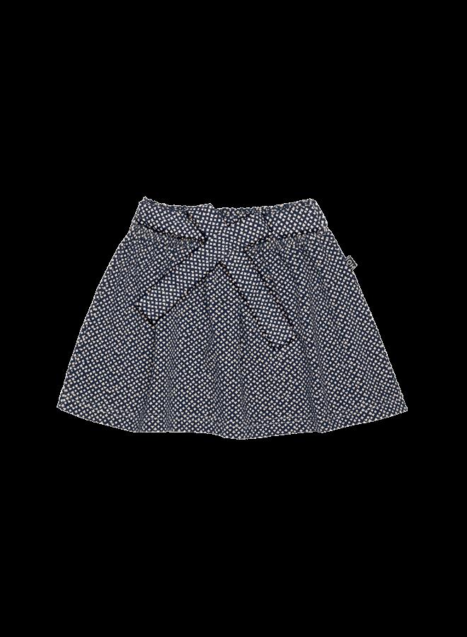 House of Jamie - Mini bow skirt vintage blue cardhouse