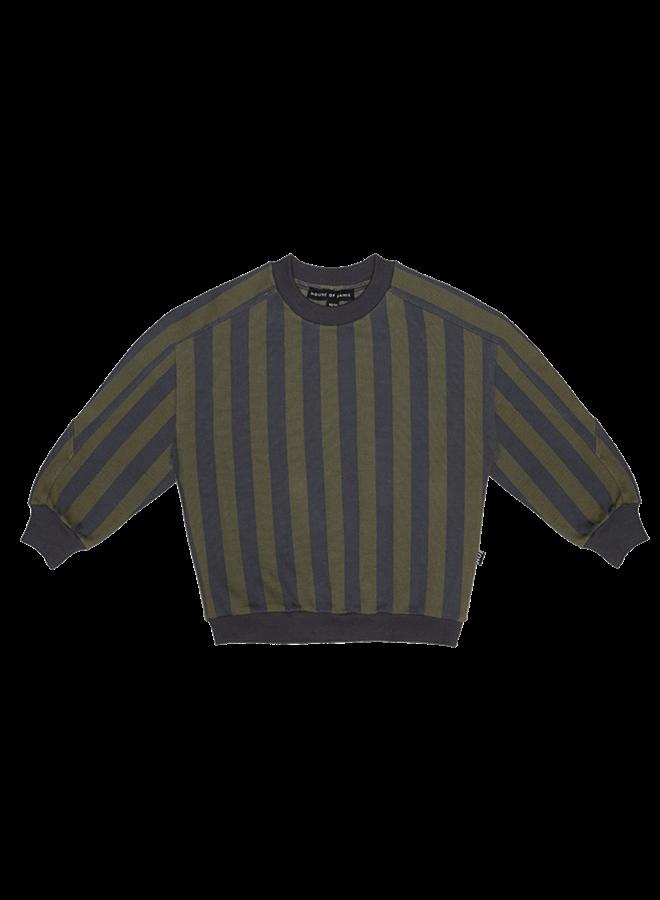 House of Jamie - Sweatshirt moss & blue stripes
