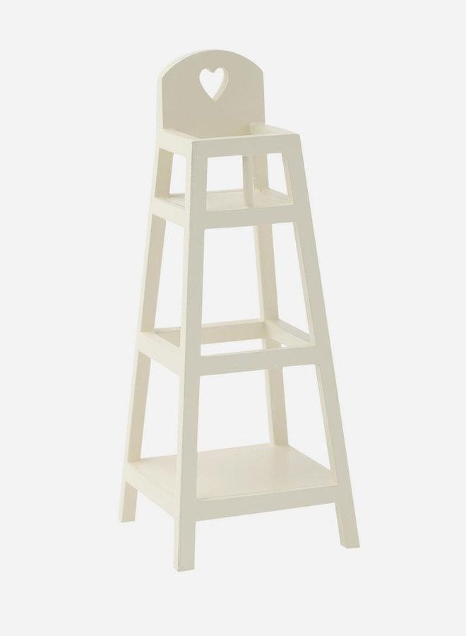 Maileg - high chair MY, wit