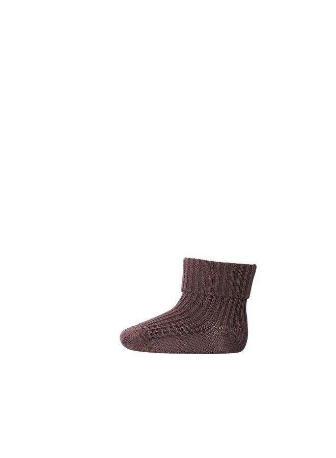 MP Denmark - Rib Baby  Socks 533 76 Brown Sienna