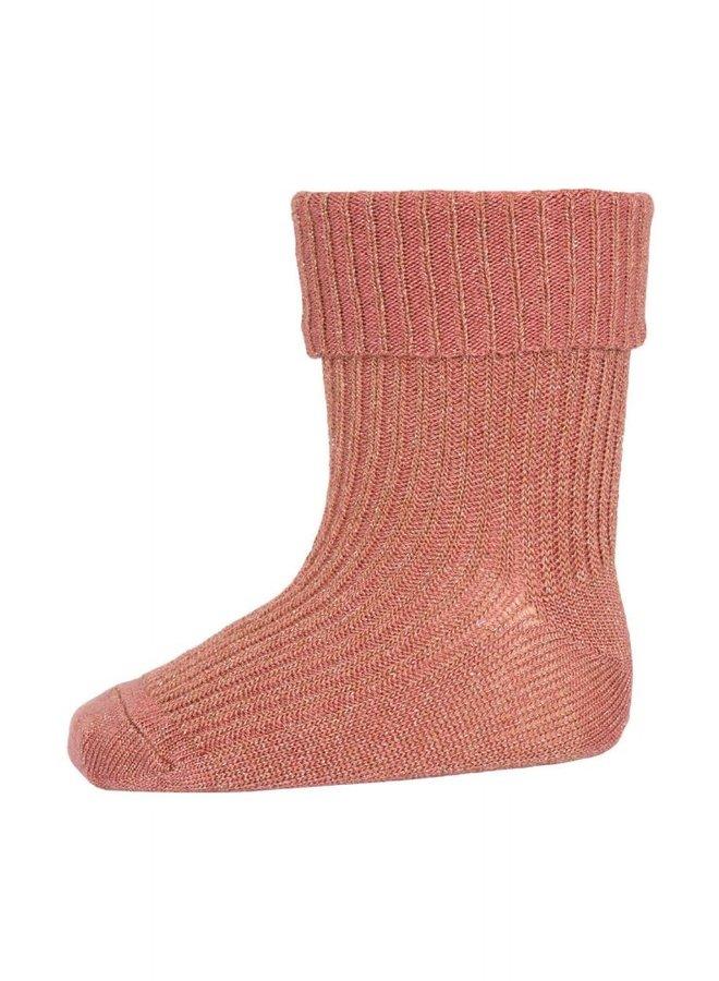 MP Denmark - Ida Glitter Socks 533 831 Canyon Rose