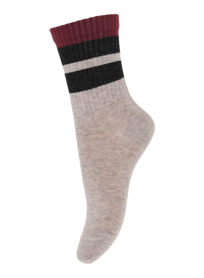 MP Denmark Frej socks 4254 Light Brown Melange