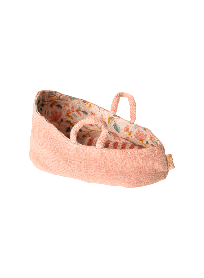 Maileg - Carry cot MY, misty rose