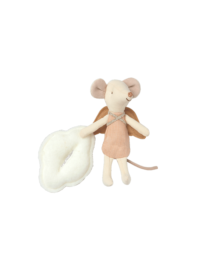 Maileg - Angel Stories, big sister mouse in book