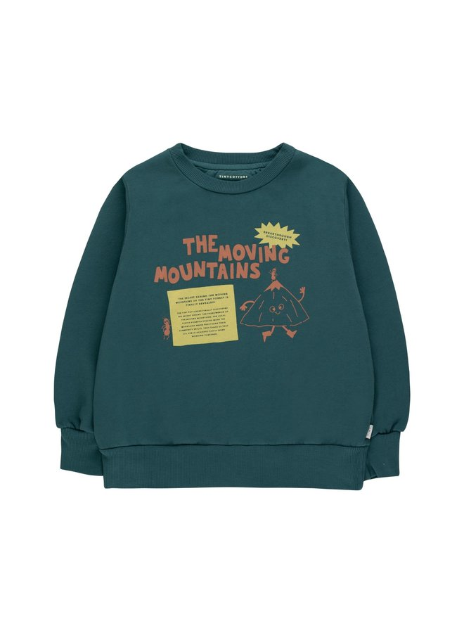 Tiny Cottons - Moving Mountains Secret Sweatshirt, stormy blue/bamboo yellow