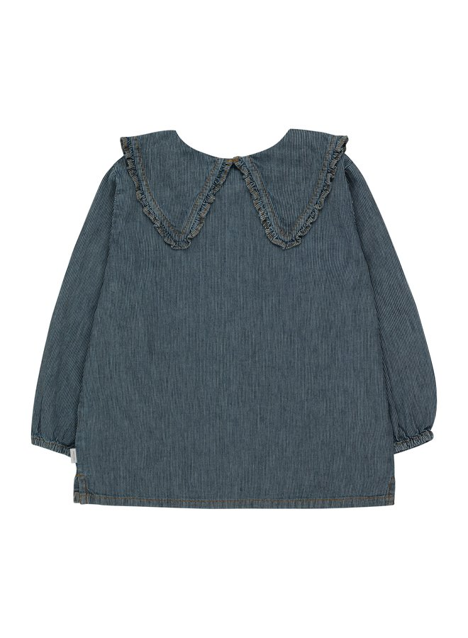 Tiny Cottons - Stripes Denim Shirt, stripes denim