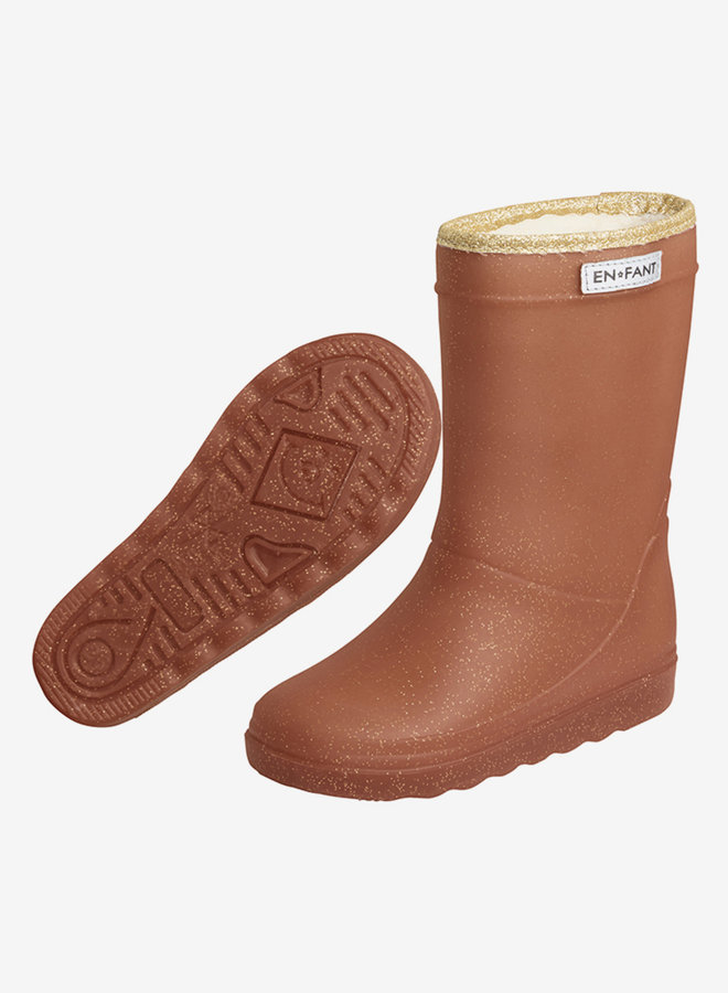 Enfant - Thermo Boots Glitter, leather brown
