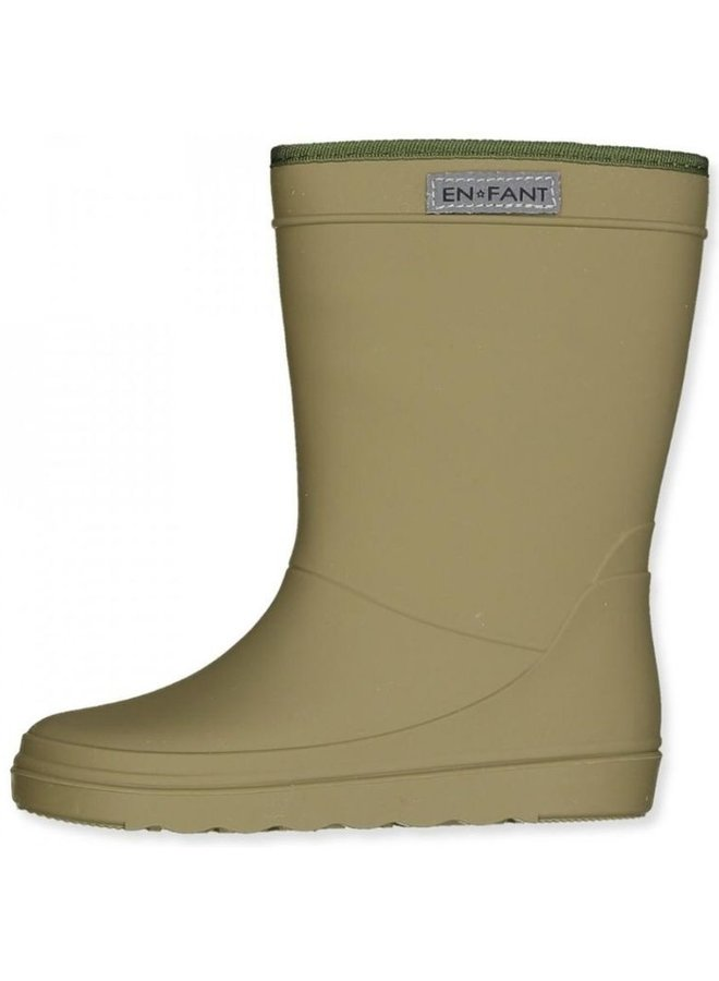 Enfant - Thermo Boots Solid, dusty olive