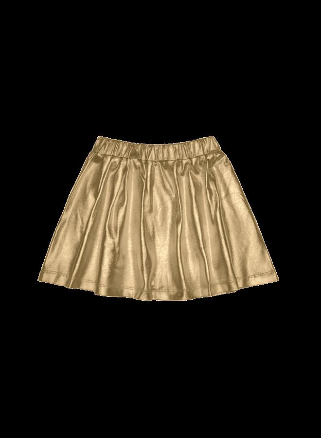 House of Jamie - Metallic Skirt gold metallic