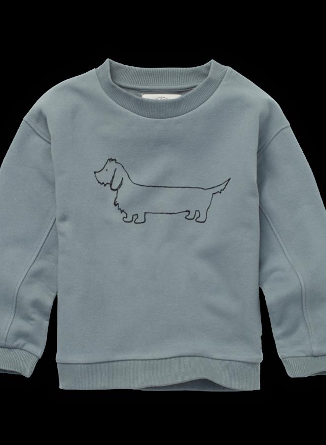 Sproet & Sprout - Sweatshirt Sausage Dog, lake blue