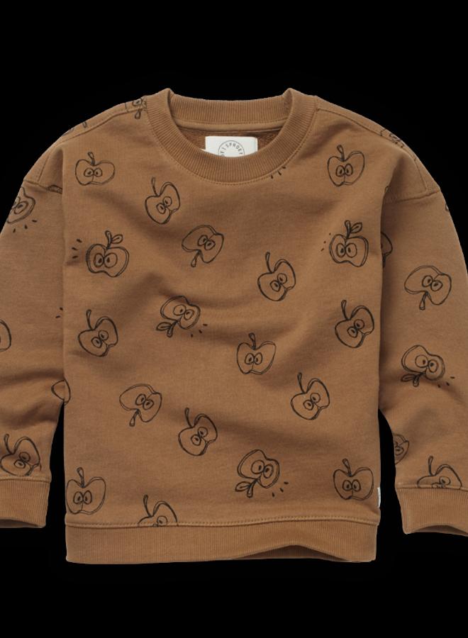 Sproet & Sprout - Sweatshirt Apple Print, mustard