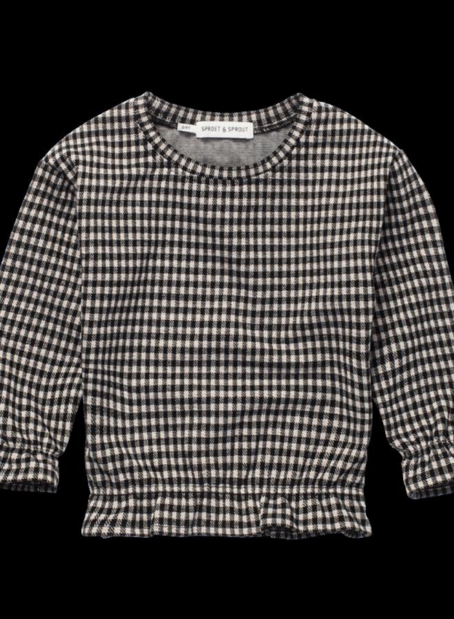 Sproet & Sprout - Sweatshirt Ruffle Block Check, black