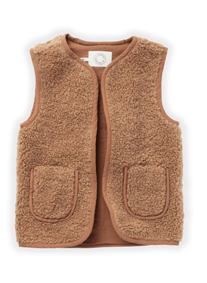 Sproet & Sprout - Teddy Gilet, nougat