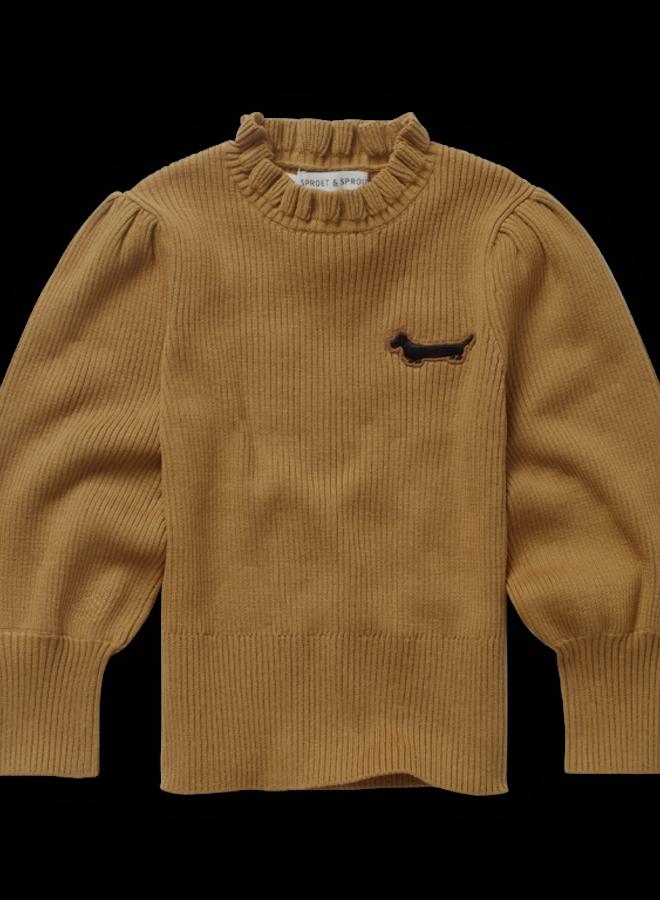 Sproet & Sprout - Sweater Turtleneck Ruffle, mustard