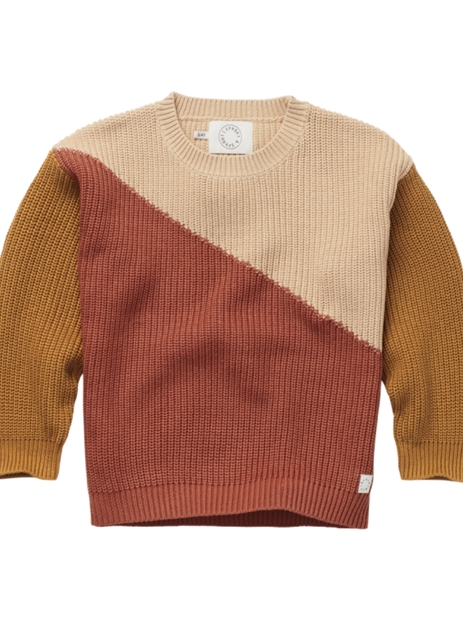 Sproet & Sprout - Sweater Colorblock, nougat