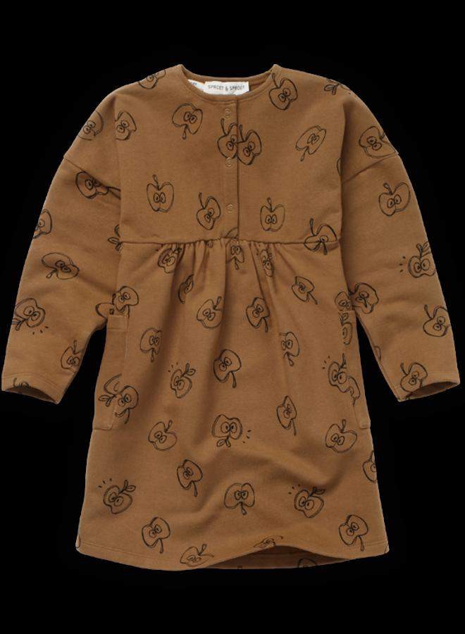 Sproet & Sprout - Dress Apple print mustard
