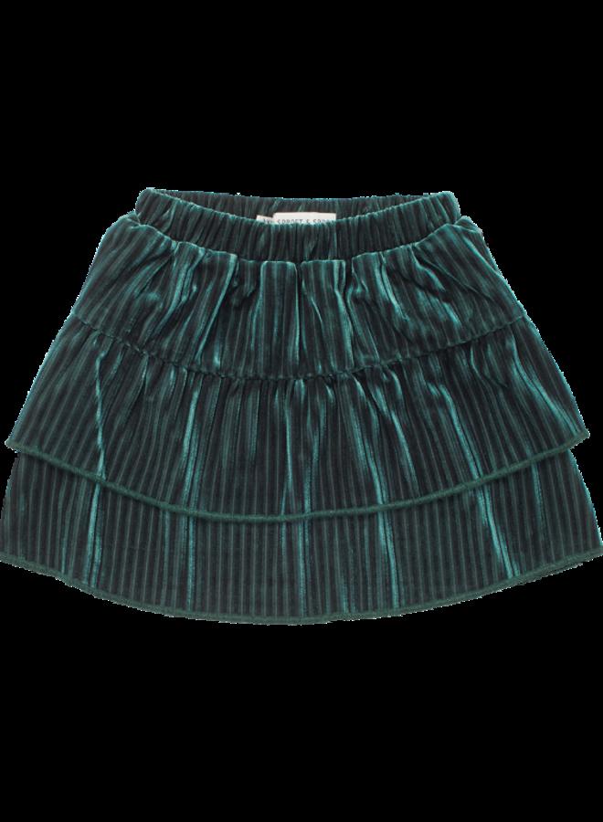 Sproet & Sprout - Skirt Velvet Pleats pine green