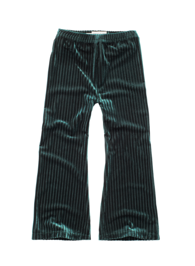 Sproet & Sprout - Pants Velvet Pleats pine green