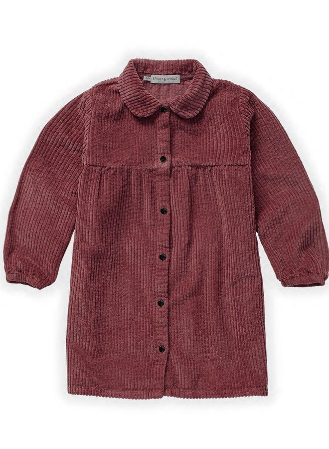 Sproet & Sprout - Dress Corduroy, fig