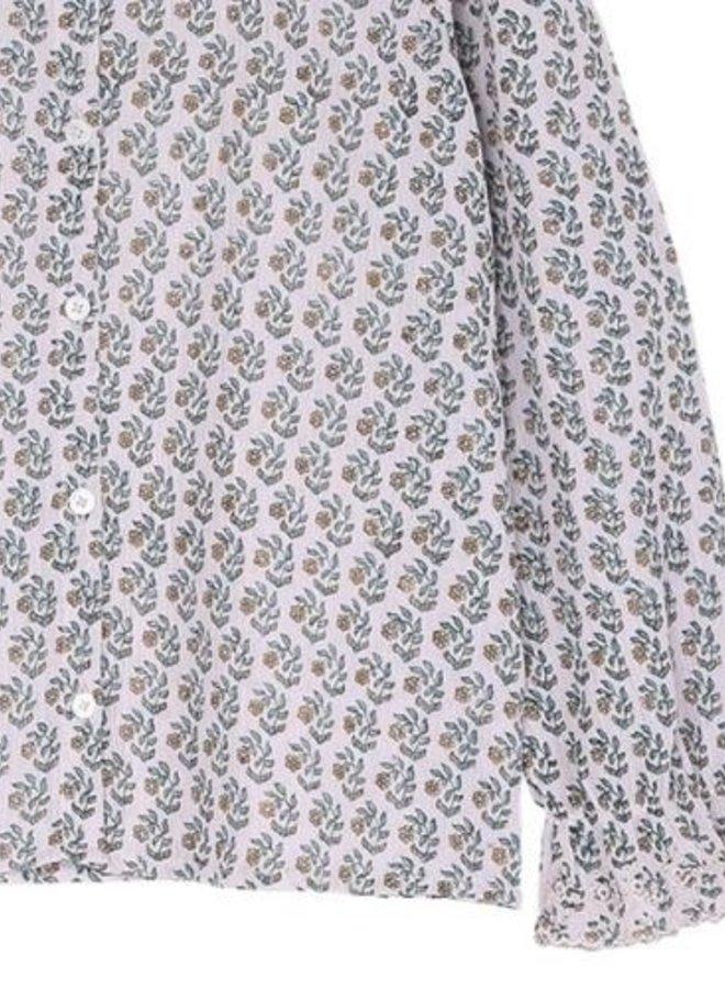 Emile et Ida - Daisy crepe blouse, mauve