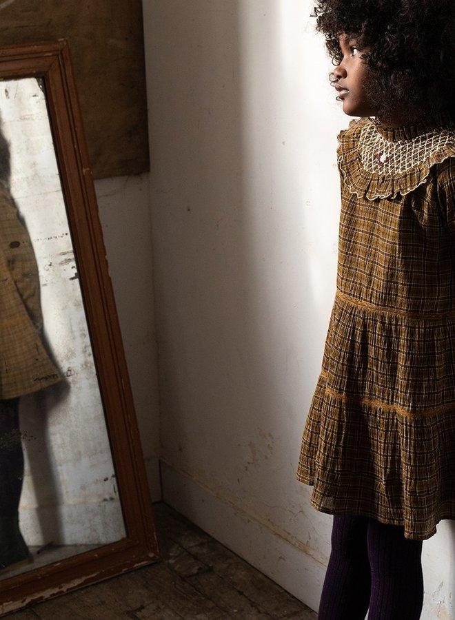 Emile et Ida - Daisy Layered dress, brown