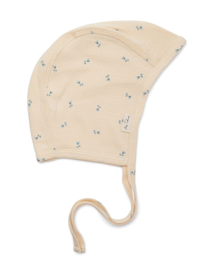 Konges Slojd newborn baby helmet petit bisou blue (1mnd)