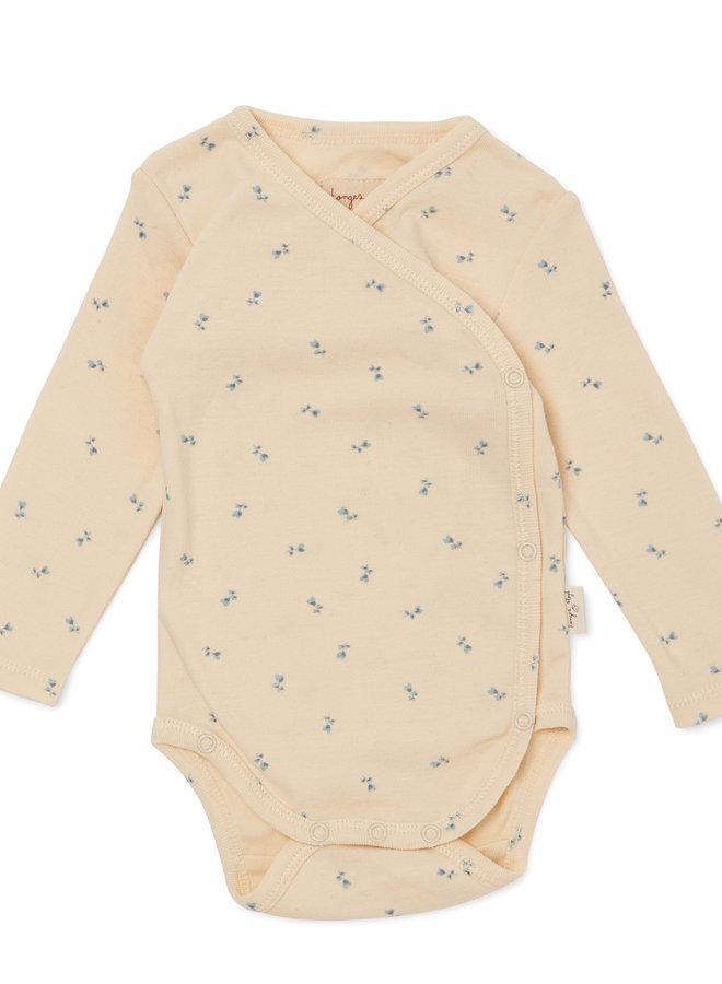 Konges Slojd - Newborn body petit bisou blue
