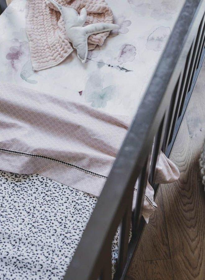 Mies & Co ledikantlaken Pretty Pearls Chalk Pink