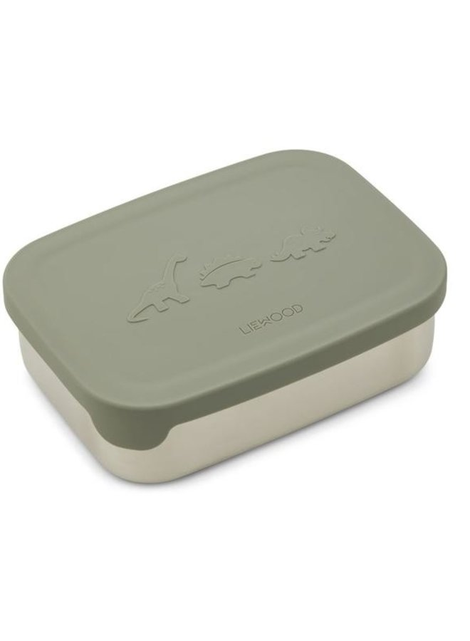 Liewood - Nina lunchbox Dino faune green