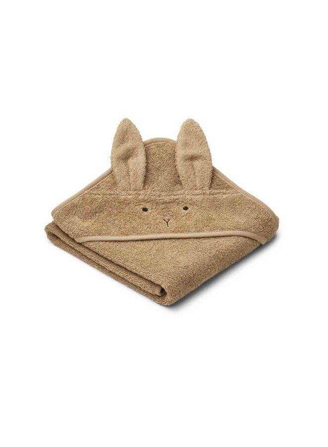 Liewood Albert hooded towel - rabbit oat