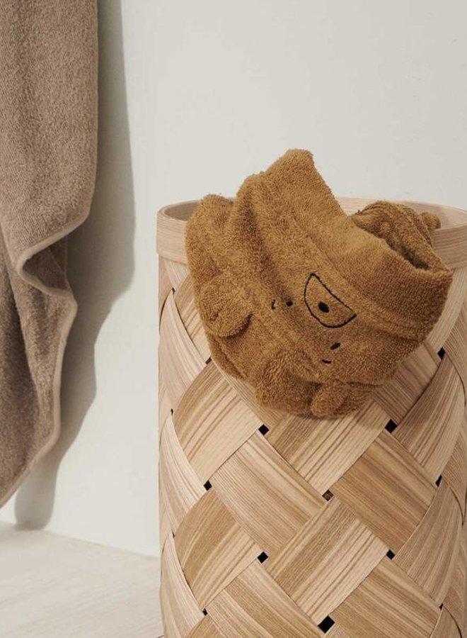 Liewood Albert hooded towel - bear golden caramel
