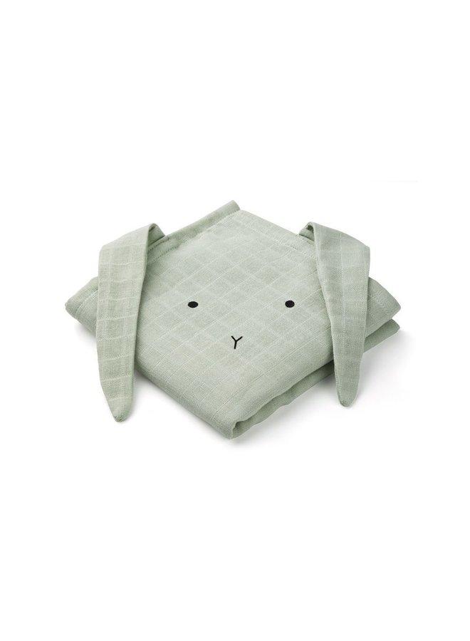 Liewood Hannah muslin cloth rabbit dusty mint