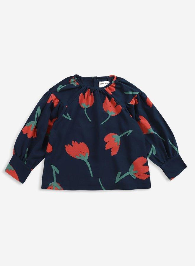 Bobo Choses Big Flowers woven blouse