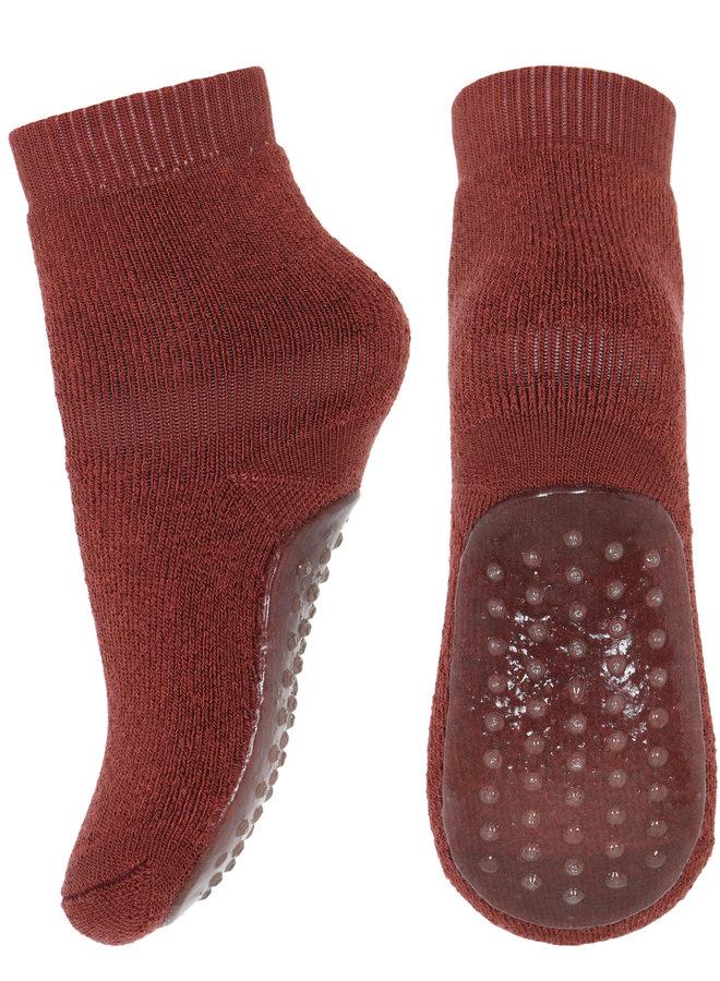 MP Denmark anti-slib Socks 79207 831 Roest bruin