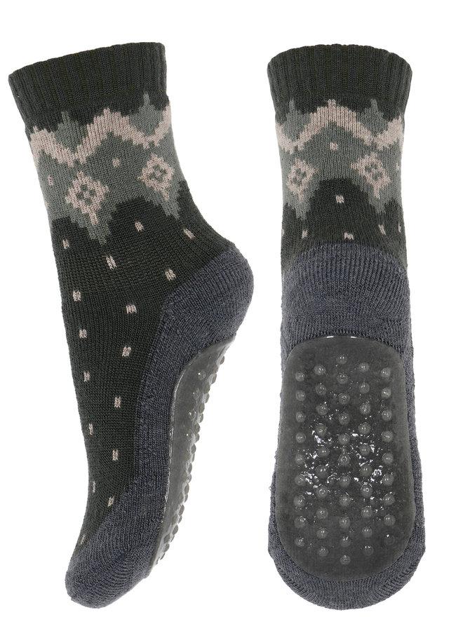 MP Denmark anti-slib Socks 79207 27 Groene print