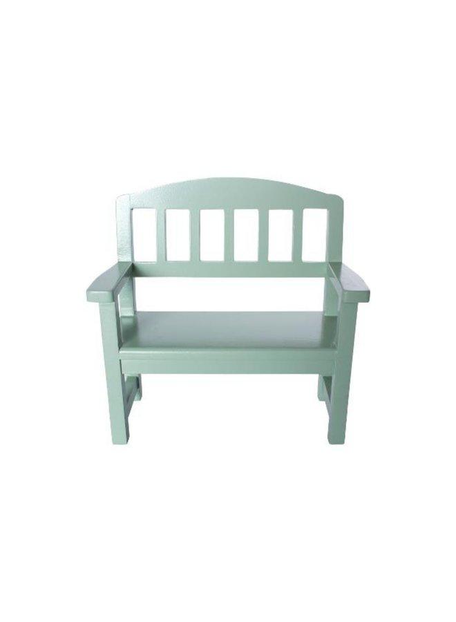 Maileg - Wooden bench, green