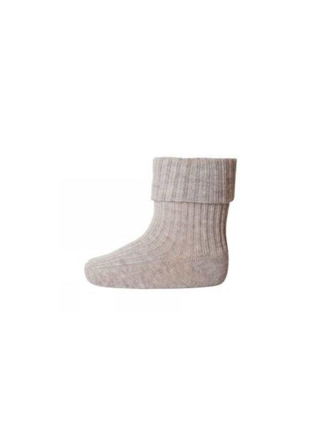 MP Denmark - Rib Baby  Socks 533 489 Taupe
