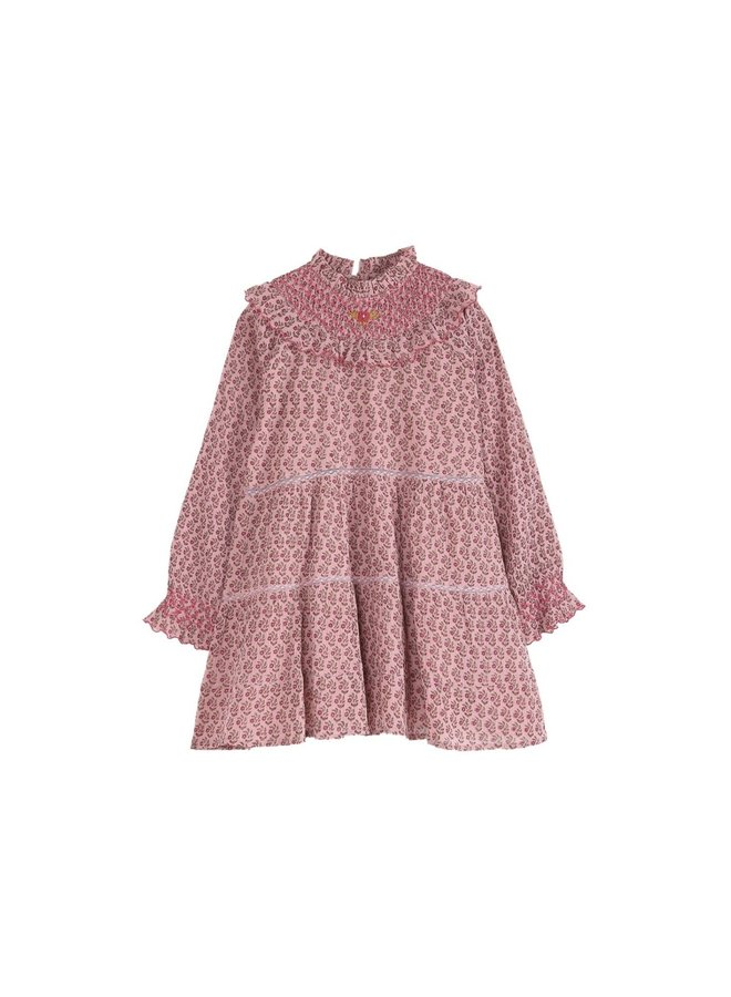 Emile et Ida - Daisy Layered dress, pink