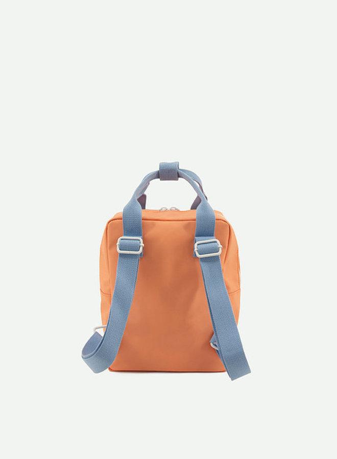 Sticky Lemon - Small Backpack gingham, cherry red + sunny blue + berry swirl