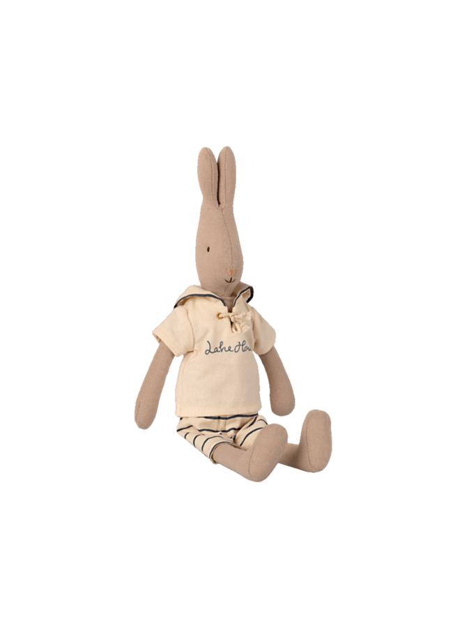 Maileg - Bunny size 2, Sailor, off-white/petrol