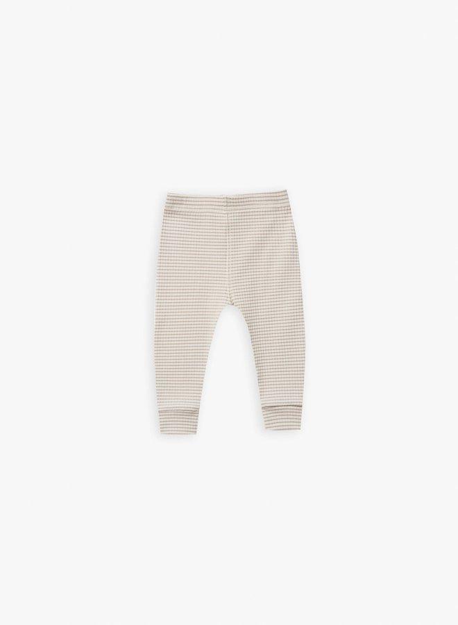 Quincy Mae - ribbed legging ash-stripe