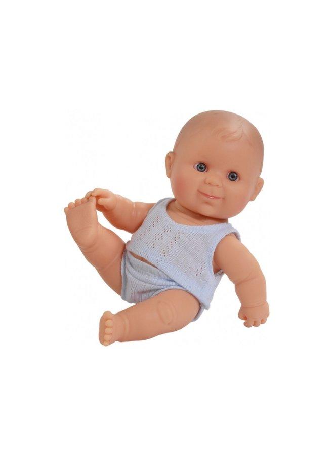 Pop Puppegie - jongen met ondergoed (blauw)