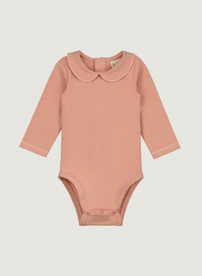 Gray Label - Baby Collar Onesie, rustic clay