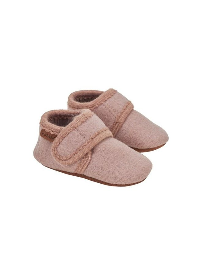 Enfant - Baby Wool Slippers, bark