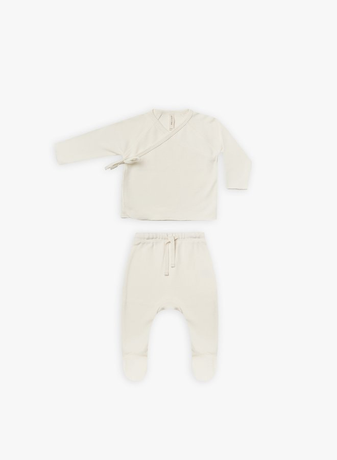 Quincy Mae - Wrap Top and Pant set, ivory